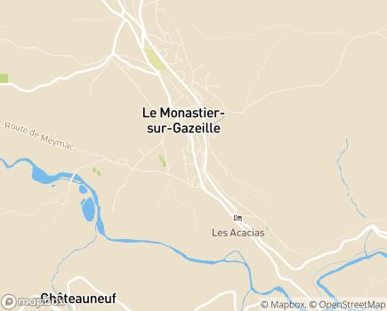 Localisation SSR L'Hort des Melleyrines Maison de Convalescence - 43150 - Le Monastier-sur-Gazeille