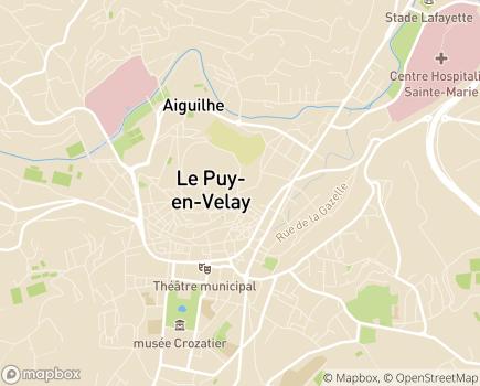 Localisation ARS Agence Régionale de Santé Délégation Départementale de la Haute-Loire - 43000 - Le Puy-en-Velay