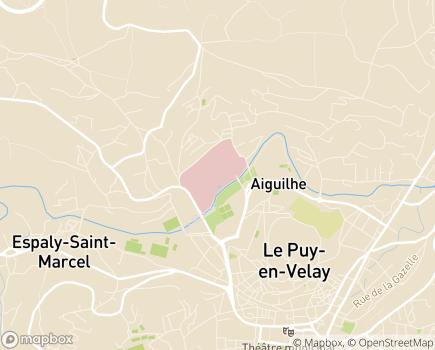 Localisation Centre Hospitalier Emile Roux - 43012 - Le Puy-en-Velay