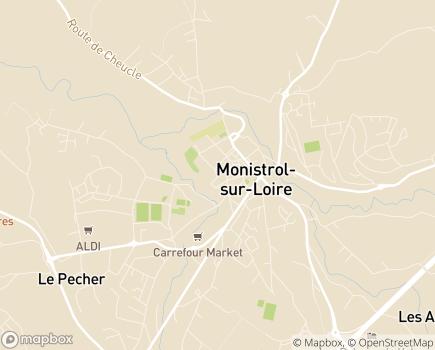 Localisation EHPAD L'Age d'Or - 43120 - Monistrol-sur-Loire
