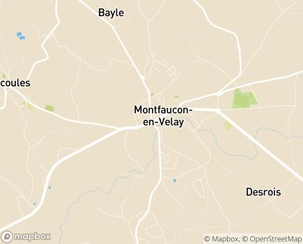 Localisation EHPAD Le Triolet Les Jardins de Fonconèche - 43290 - Montfaucon-en-Velay