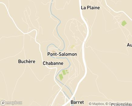 Localisation ADMR L'Escale Noémie - 43330 - Pont-Salomon