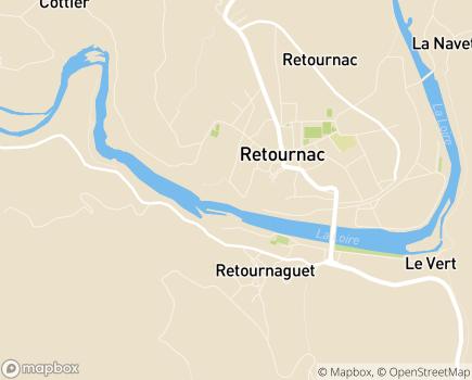 Localisation EHPAD de Retournac - 43130 - Retournac