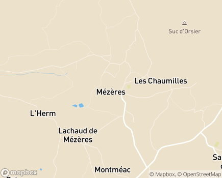 Localisation EHPAD La Roseraie - 43800 - Rosières