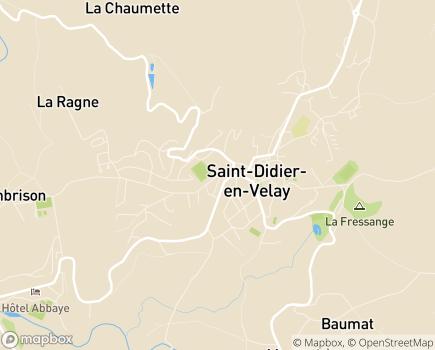 Localisation EHPAD Saint Roch - 43140 - Saint-Didier-en-Velay