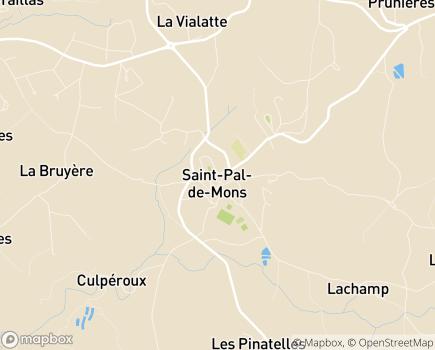 Localisation EHPAD Résidence Saint-Régis - 43620 - Saint-Pal-de-Mons