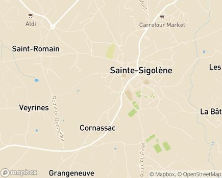 Localisation EHPAD Résidence Sigolène - 43600 - Sainte-Sigolène