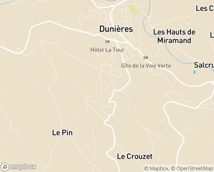 Localisation EHPAD Le Triolet - Résidence Les Bruyères - 43220 - Dunières