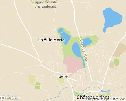 Localisation USLD du Centre Hospitalier Châteaubriant - Pouancé - Nozay - 44110 - Châteaubriant