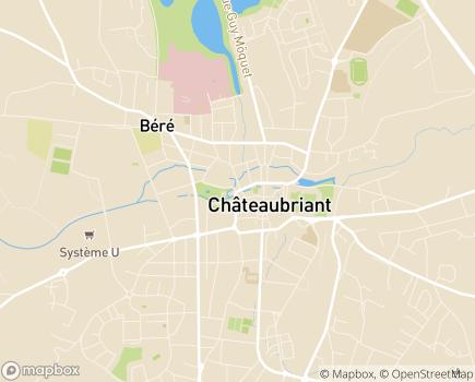 Localisation EHPAD Parc de la Lande du Centre Hospitalier de Châteaubriant-Nozay- Pouancé - 44110 - Châteaubriant