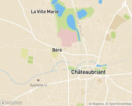 Localisation Maison de Retraite de Béré - 44110 - Châteaubriant