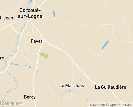 Localisation Hôpital Bel Air - 44650 - Corcoué-sur-Logne