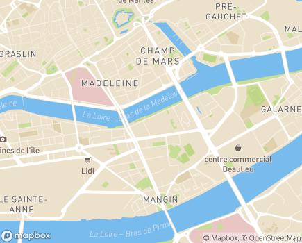 Localisation ARS Agence Régionale de Santé Délégation Territoriale de Loire-Atlantique - 44262 - Nantes
