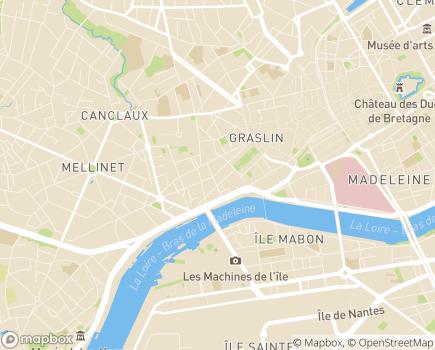 Localisation Édit de Nantes Habitat Jeunes - 44100 - Nantes