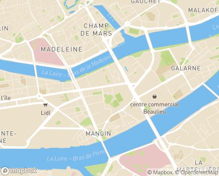 Localisation Adelis Foyer de Jeunes Travailleurs Port Beaulieu - 44200 - Nantes