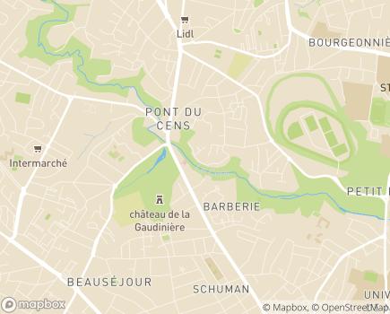 Localisation Adoma Résidence Le Pont du Cens - 44300 - Nantes