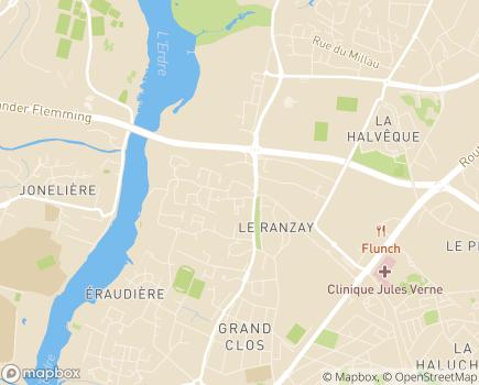 Localisation Korian Le Ranzay - 44000 - Nantes