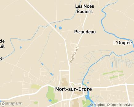 Localisation EHPAD La Chesnaie - Les Cèdres - 44170 - Nozay