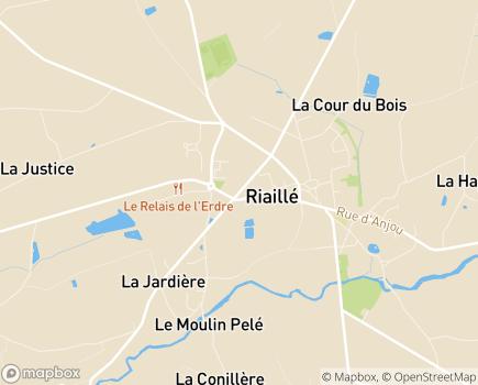 Localisation EHPAD Résidence Les 3 Moulins - 44440 - Riaillé