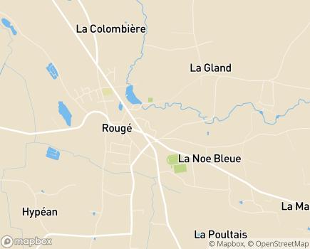 Localisation EHPAD - Résidence AGAPE Val de Brutz - 44660 - Rougé