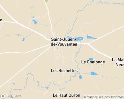 Localisation EHPAD Maison d'Accueil Saint-Julien - 44670 - Saint-Julien-de-Vouvantes