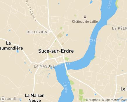 Localisation EHPAD Saint-Joseph la Hautière - 44240 - Sucé-sur-Erdre