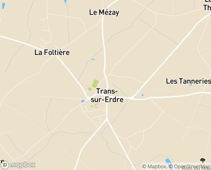 Localisation EHPAD Résidence La Suzaie, Maison de Retraite - 44440 - Trans-sur-Erdre