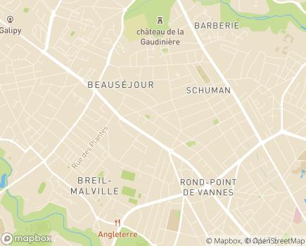 Localisation Adelis Foyer de Jeunes Travailleurs Chanteclerc - 44300 - Nantes