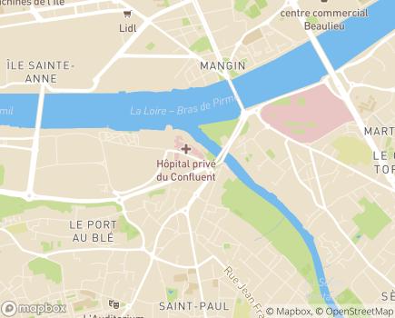 Localisation Croix-Rouge Française - Centre de Soins de Suite et Réadaptation Le Confluent - 44263 - Nantes