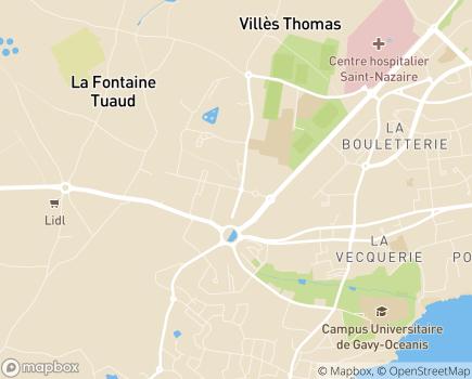 Localisation Domiprest - 44600 - Saint-Nazaire