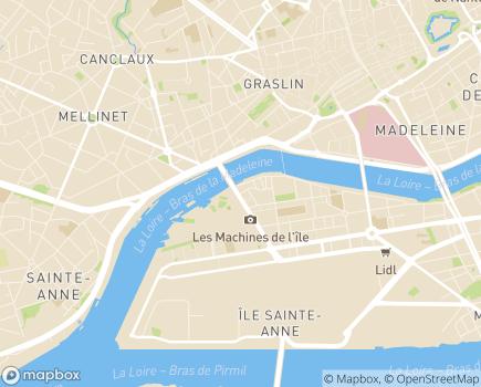 Localisation Maison Départementale des Adolescents - 44200 - Nantes