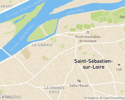 Localisation Les Menus Services - 44230 - Saint-Sébastien-sur-Loire