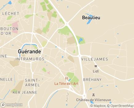 Localisation Capvie La Baule - 44350 - Guérande