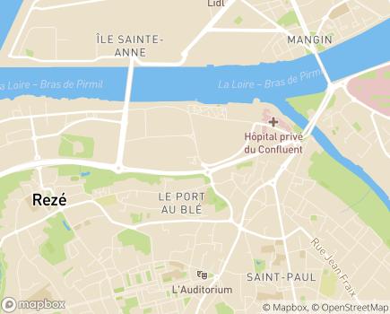 Localisation EHPAD Résidence Clos de l'Ile Macé - 44400 - Rezé