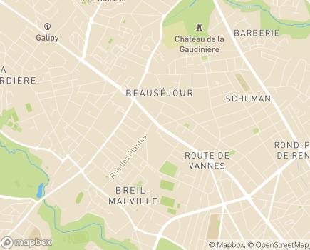 Localisation Résidence Steredenn - 44100 - Nantes