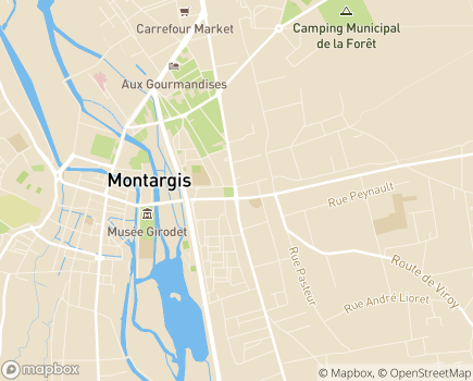 Localisation EHPAD Notre Foyer - 45200 - Montargis