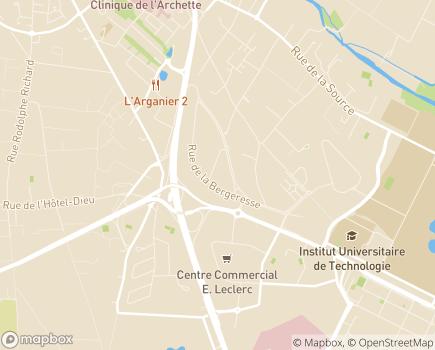 Localisation HAD Orléans-Montargis LNA Santé Antenne d'Orléans - 45160 - Olivet