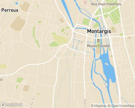 Localisation EHPAD Les Rives du Puiseaux - 45200 - Montargis
