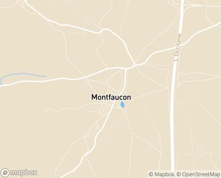Localisation La Roseraie Centre de Rééducation Fonctionnelle - 46240 - Montfaucon