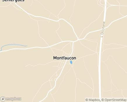 Localisation EHPAD La Roseraie - 46240 - Montfaucon
