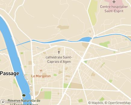Localisation ARS Délégation Départementale de Lot-et-Garonne - 47031 - Agen