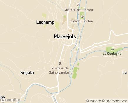 Localisation Institut Médico-Professionnel Le Galion - 48100 - Marvejols