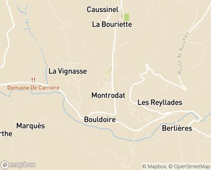 Localisation Centre de Montrodat - 48100 - Montrodat