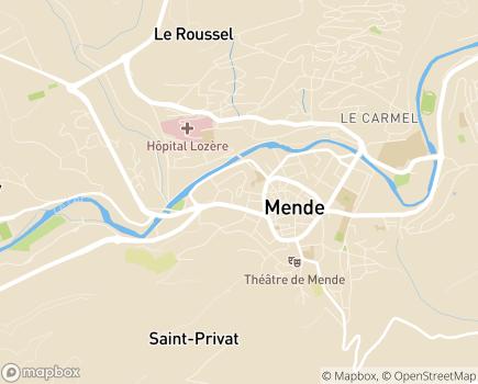 Localisation CLIC (Direction Générale Adjointe de la Solidarité Sociale) - 48000 - Mende
