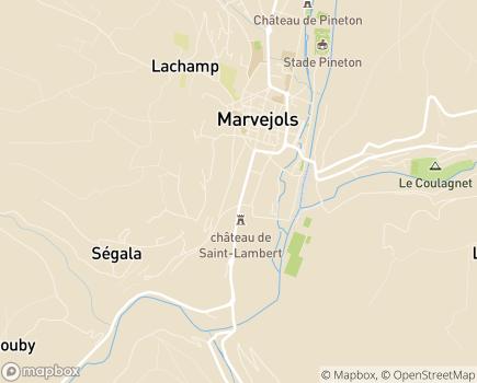 Localisation SESSAD Pro - 48100 - Marvejols
