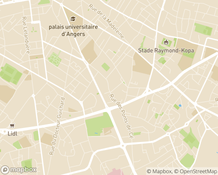 Localisation Mutualité Française Anjou-Mayenne - 49028 - Angers