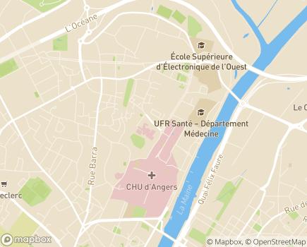 Localisation Les Capucins Réadaptation Spécialisée et Soins de Longue Durée - 49000 - Angers