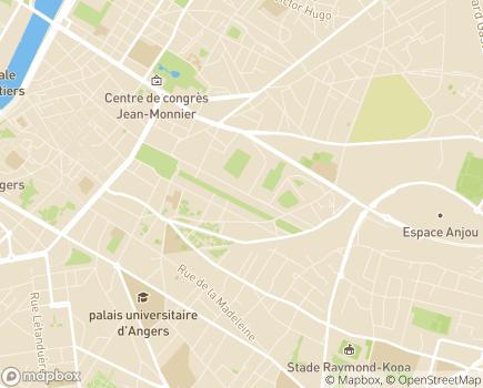 Localisation Caisse d'Allocations Familiales de Maine-et-Loire - 49927 - Angers