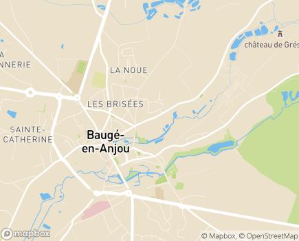 Localisation EHPAD Anne de Melun - 49150 - Baugé