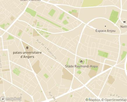 Localisation ADAPEI  49 - Association Départementale d'Amis et Parents d'Enfants Inadaptés du Maine-et-Loire - 49018 - Angers